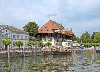 Konstanz, Hafen  mit Konzilgebaeude