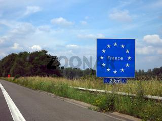Autobahnschild 'France'
