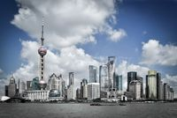 shanghai pudong skyline, China
