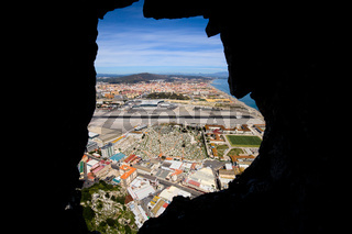 View from Inside of the Gibraltar Rock