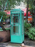 Soviet era phonebox in Gyumri
