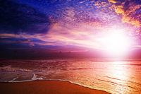 Amazing sunset over the beach