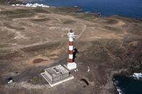 Luftaufnahme Leuchtturm Faro de punta Abona, Teneriffa