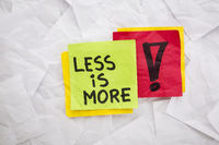 less is more advice
