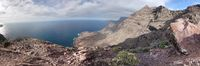 Panoramic view of rocky mountain peaks