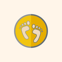 Feet Flat Icon