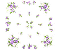 Tuch mit Blumendekor als Hintergrund - Cloth with flowers as background
