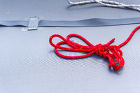 Red rope on a boat