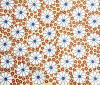 Tuch mit Blumendekor als Hintergrund - Cloth with flowers as background