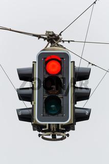 Ampel mit rotem Licht