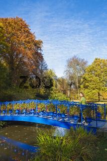 Blaue Bruecke im Fuerst-Pueckler-Park