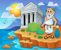 Greek theme image 2 - picture illustration.