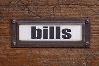bills - file cabinet label