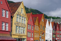 Old renovated houses in Bergen