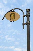Low angle view at lamppost over blue sky