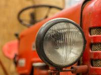 Closeup of tractor lamp