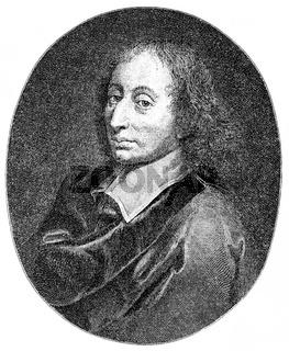 Blaise Pascal, 1623 - 1662, a French mathematician