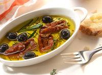 Trockentomaten in Olivenöl