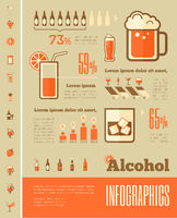 Alcohol Infographic Template.