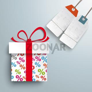 Paper Gift Percents 2 Price Sticker PiAd