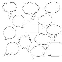 Communication Bubbles Black White PiAd
