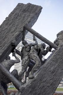 Bergarbeiterdenkmal 'Steile Lagerung' in Essen, Deutschland