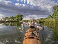 paddling sea kayak