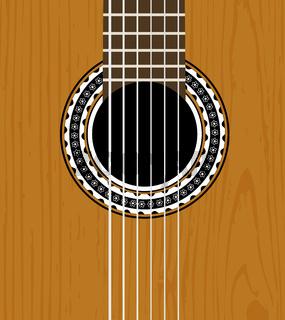 Guitar sound hole background