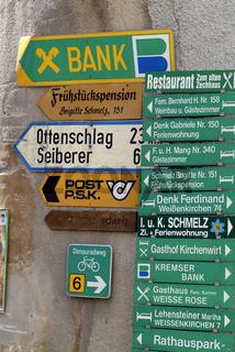 Hinweisschilder in Österreich