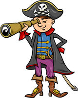 pirate boy cartoon illustration