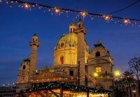 Wien Weihnachtsmarkt Karlsplatz - Vienna christmas market Charles Square 02