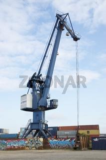 Hafenkran im Dortmunder Containerhafen, Deutschland
