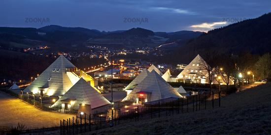 The Sauerland Pyramids in Meggen in Lennestadt.