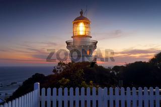 Sugarloaf Point  Lighthouse at sundown