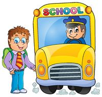 Image with school bus topic 3 - picture illustration.