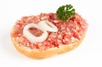 bread roll with mett