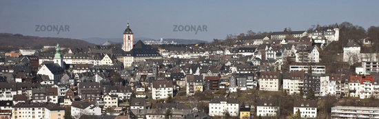 City View from the upper town Siegen in Germany.