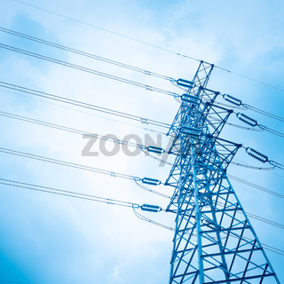 high voltage transmission pylon background