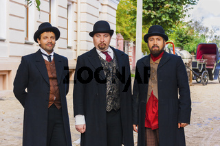 Drei jüdischer Männer.