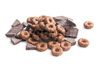 cereal rings and chocolate
