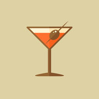 Martini. Food Flat Icon