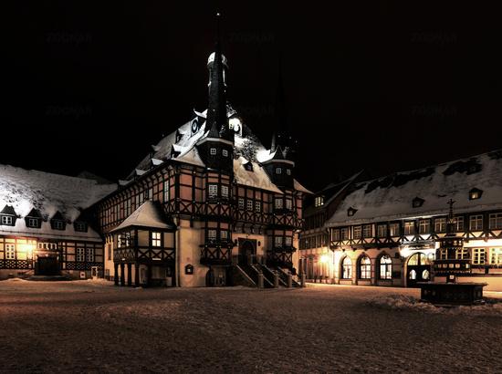 Idyllic Market Place Wernigerode, Germany