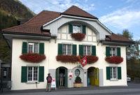 Valley station of the Niesen funicular,Switzerland