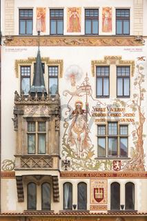 Historic house in Prague, Czech Republic