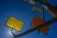 Solarzellen, Solarbaum, Ulmer Wohnviertel Solar City, Ulm, Baden-Württemberg, Deutschland, Europa