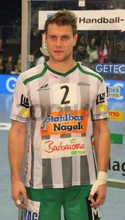 deutscher Handballspieler Michael Kraus (FRISCH AUF Göppingen,DHB) DKB Handball-Bundesliga 2013/14