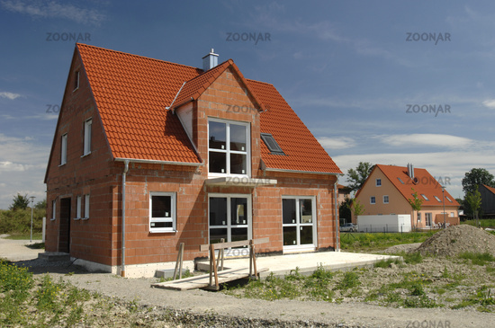 construction of new house in germany