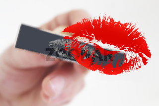 Stamp Stamping Red kiss