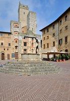 Piazza della Cisterna,San Gimignano,Tuscany
