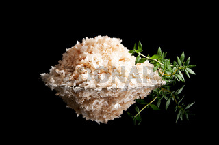 Sea salt heap isolated.